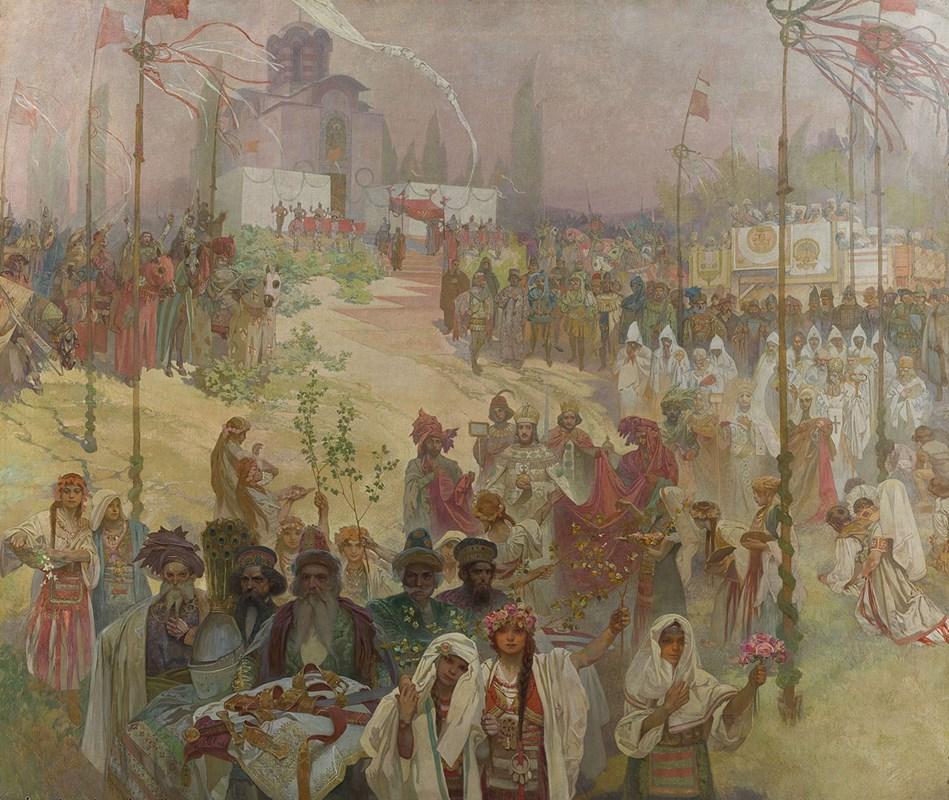 Korunovace cara srbského Štěpána Dušana na cara východořímského