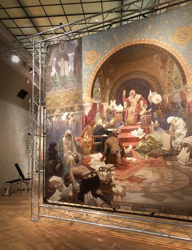 Digitalizace - Slovanská Epopej - výstava
