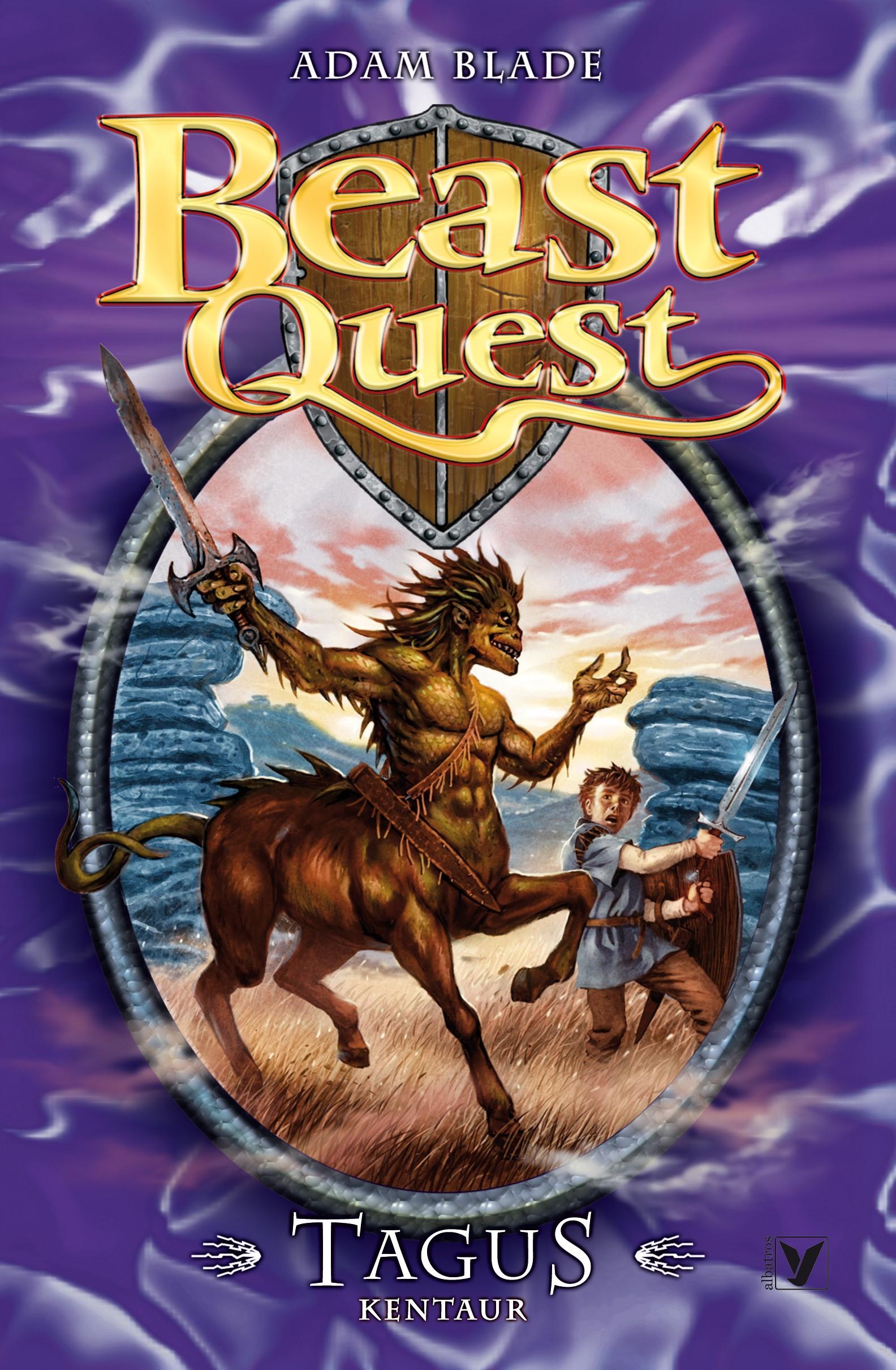 Book Cover Craft Quest ~ Tagus kentaur beast quest albatrosmedia cz