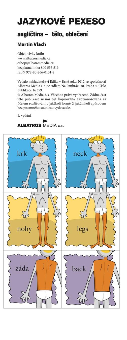 Jazykové pexeso - angličtina - tělo, oblečení   Martin Vlach