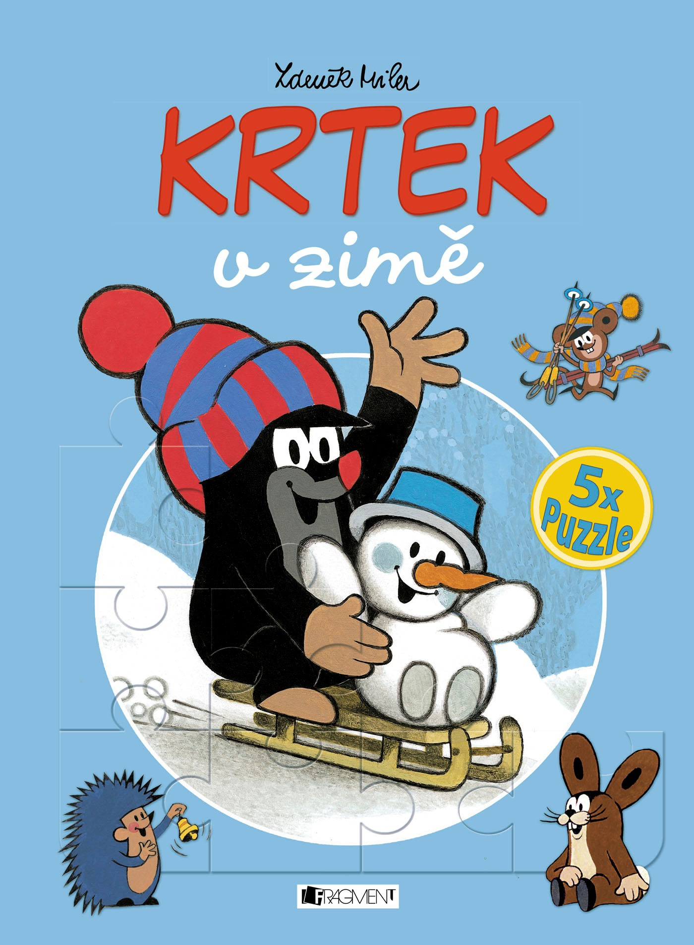 KRTEK v zimě – 5x puzzle | Milena Fischerová, Zdeněk Miler