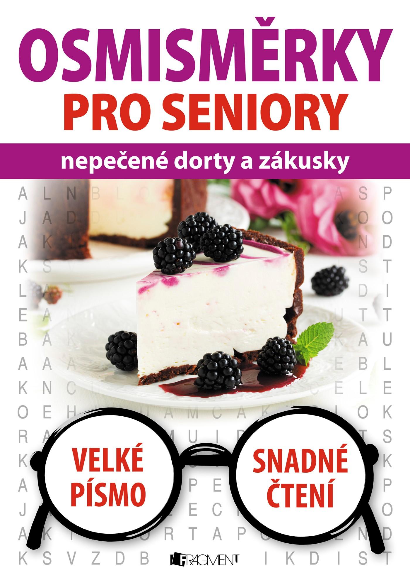 Osmisměrky pro seniory – nepečené dorty a zákusky