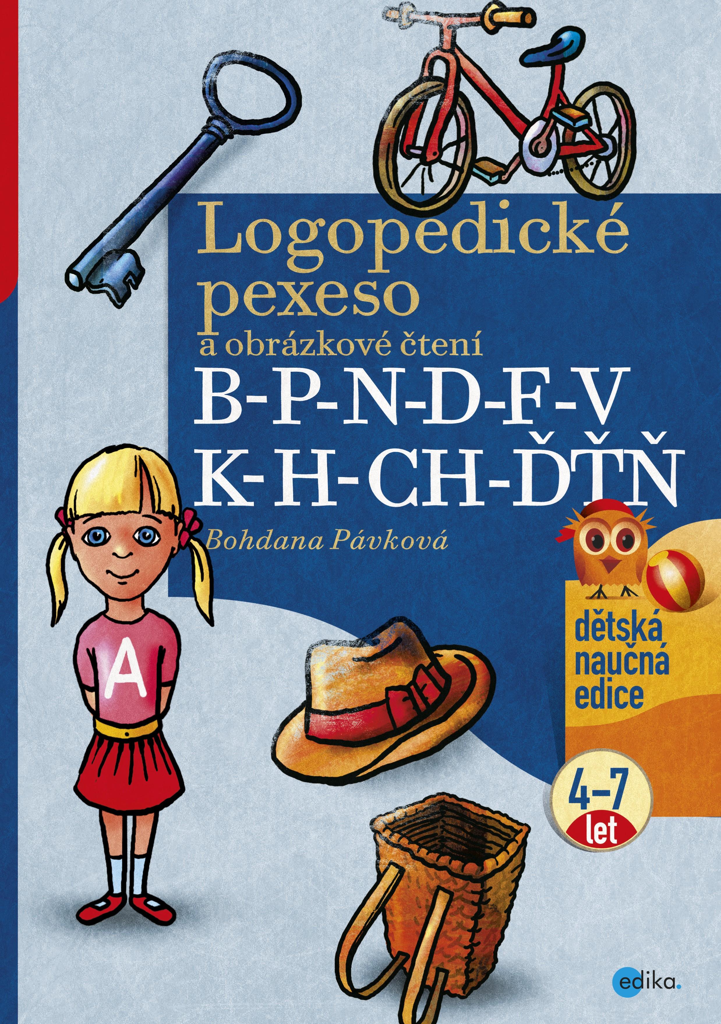 Logopedické pexeso a obrázkové čtení B-P-N-D-F-V-K-H-CH-ĎŤŇ | Bohdana Pávková