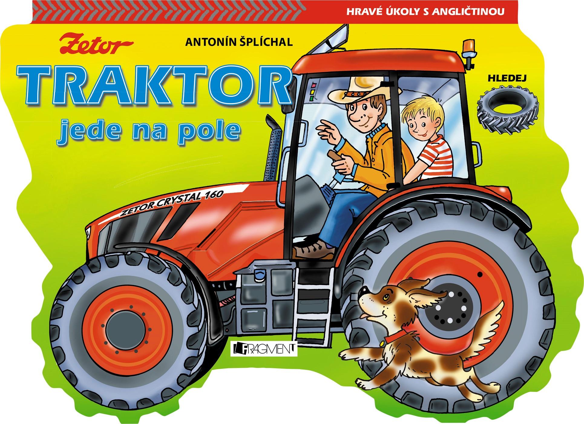 Traktor jede na pole