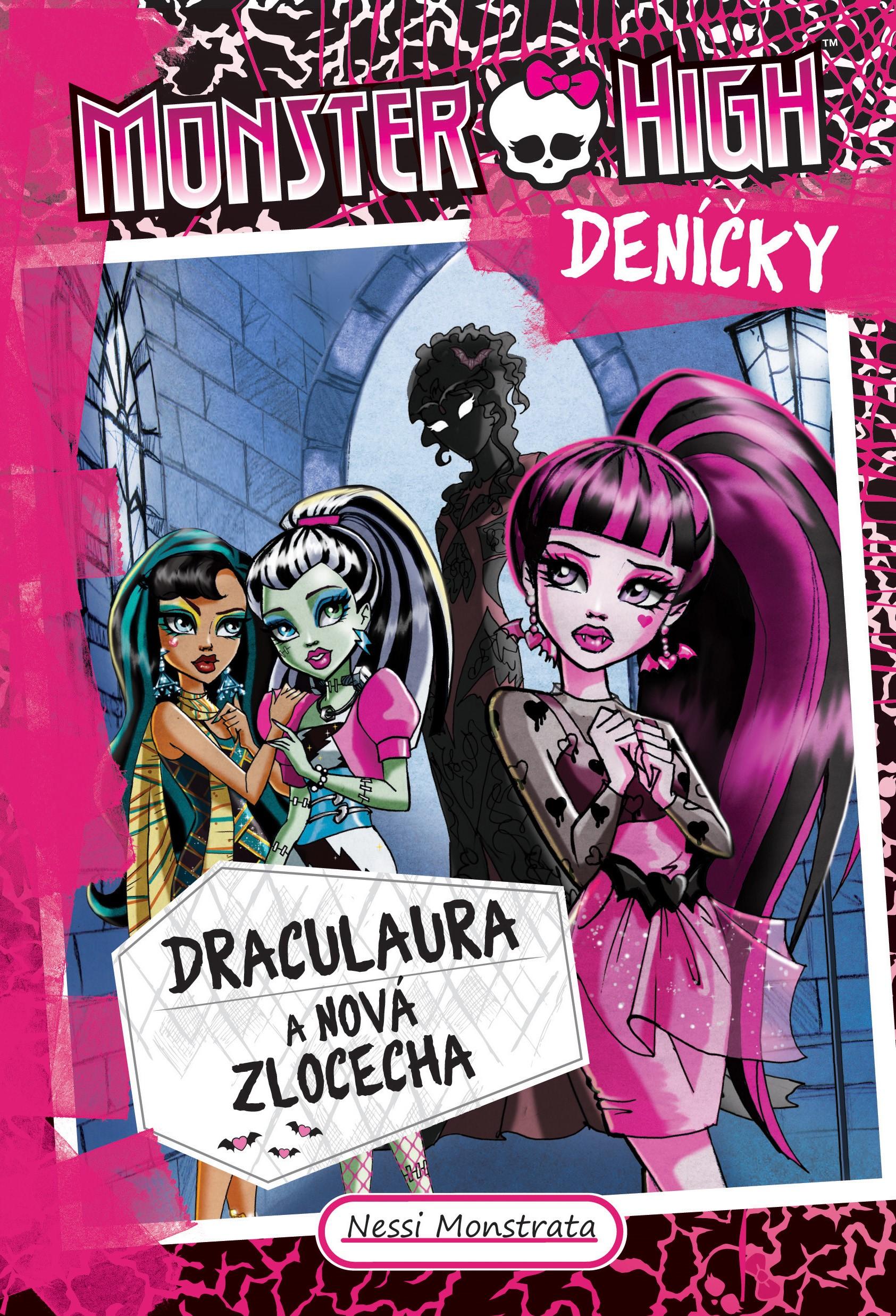 Monster High deníčky – Draculaura a nová zlocecha   Nessi Monstrata