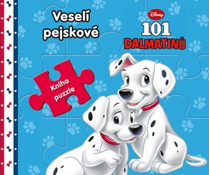101 Dalmatinů - Veselí pejskové - Kniha puzzle