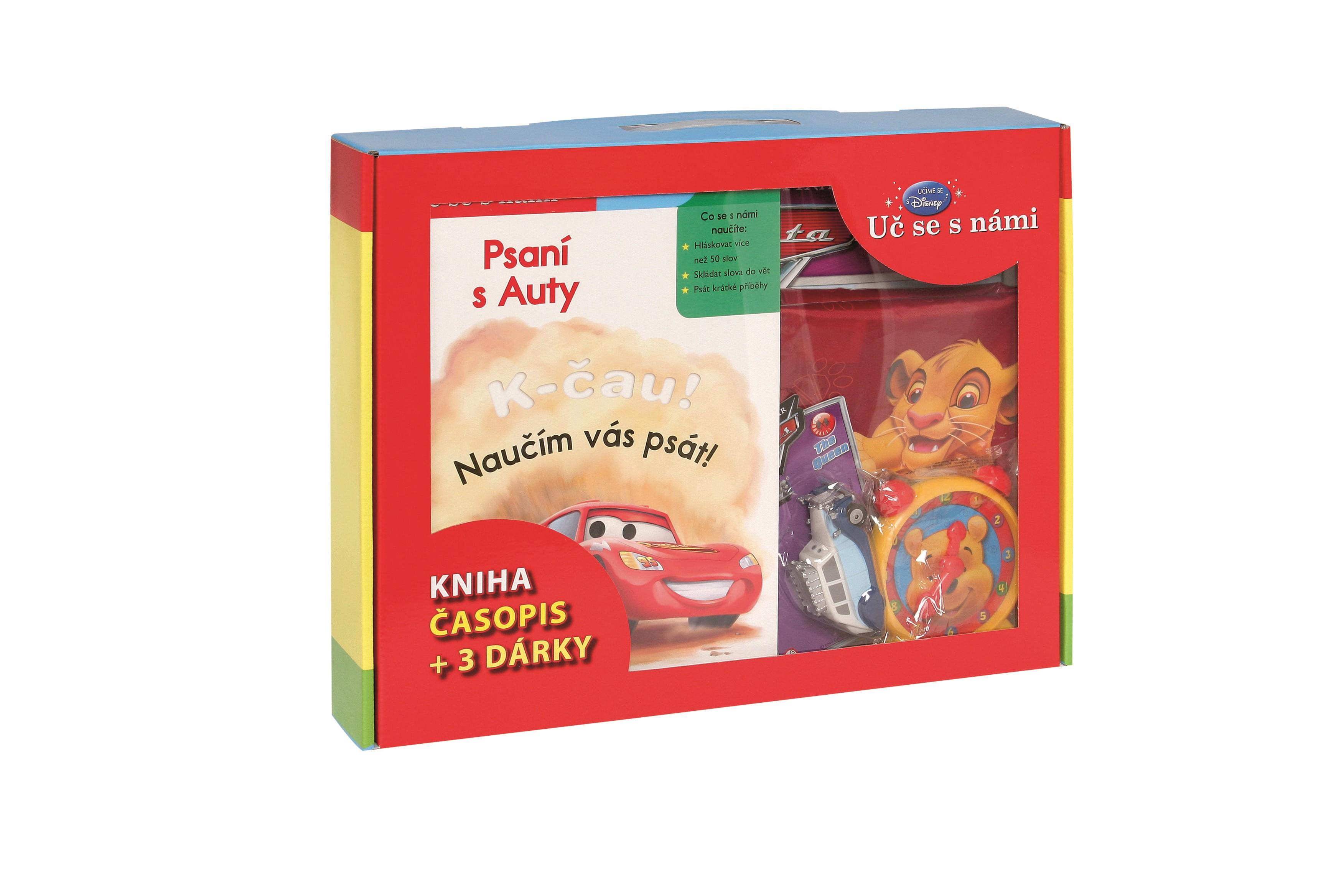 Uč se s námi - Psaní s Auty (kniha, časopis + 3 dárky) | Pixar, Pixar