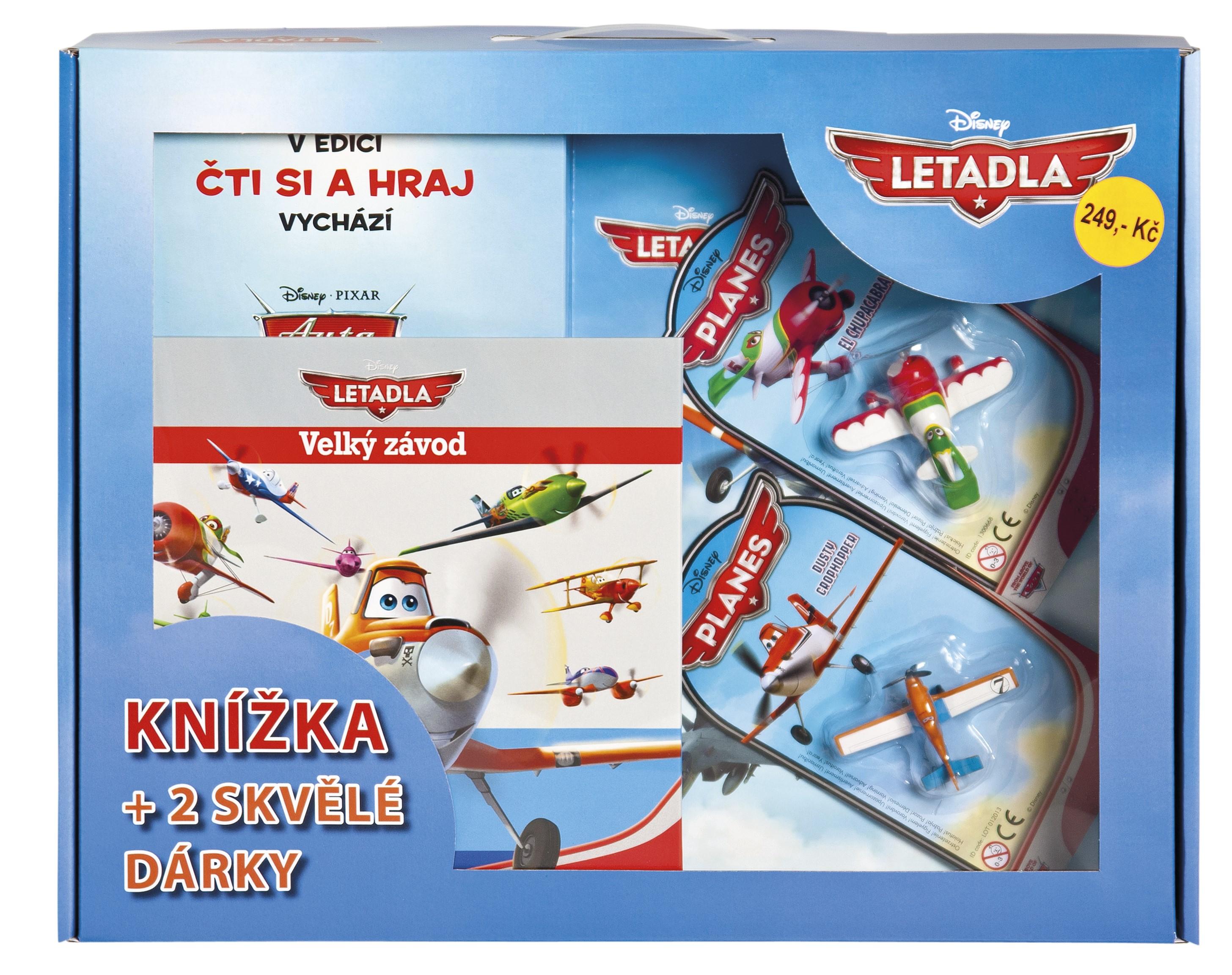Letadla - Čti si a hraj - Velký závod (knížka + 2 skvělé dárky) | Walt Disney