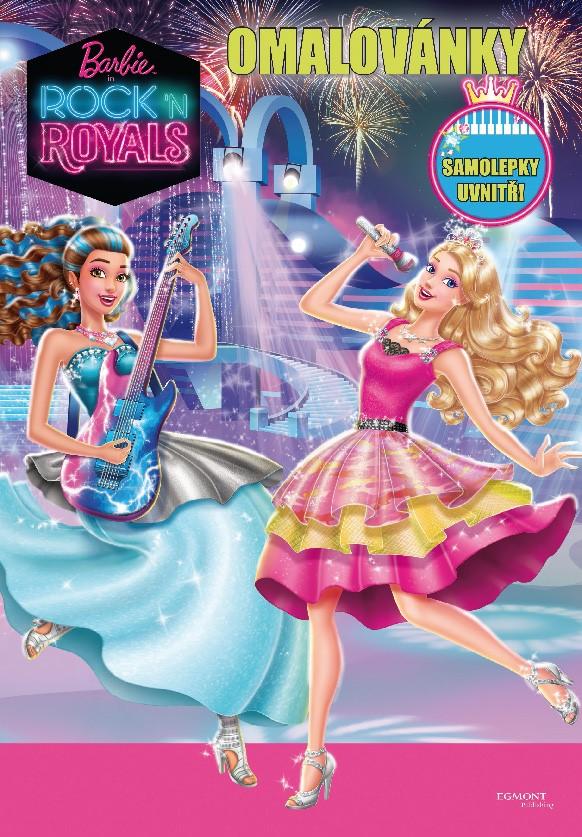 Barbie - Rock´n Royals - Omalovánky - Samolepky uvnitř!   Mattel, Mattel