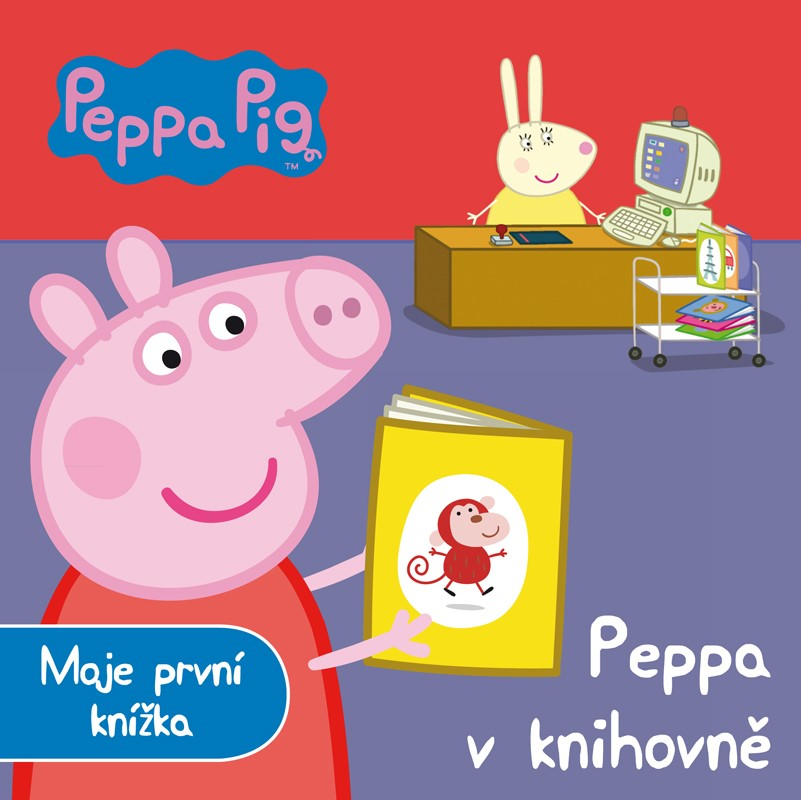 Peppa Pig Peppa V Knihovně Moje První Knížka Albatrosmedia Cz