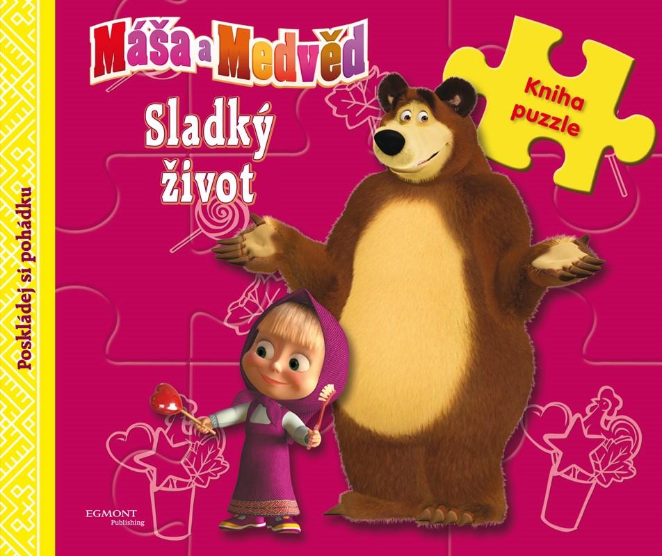 Máša a medvěd - Sladký život - Kniha puzzle - Poskládej si pohádku |