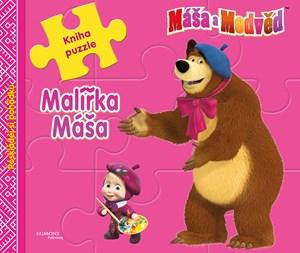 Máša a medvěd - Malířka Máša - Kniha puzzle - Poskládej si pohádku