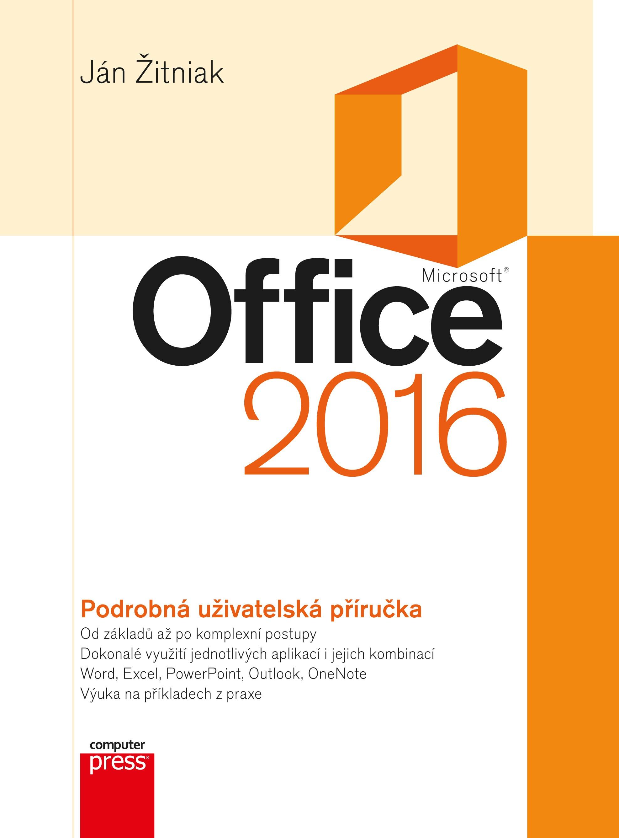 MICROSOFT OFFICE 2016 PODROBNÁ UŽ.PŘÍRUČKA/COMPUTER PRESS