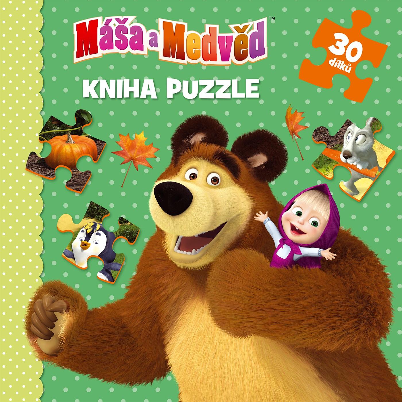 Máša a Medvěd - Kniha puzzle 30 dílků |