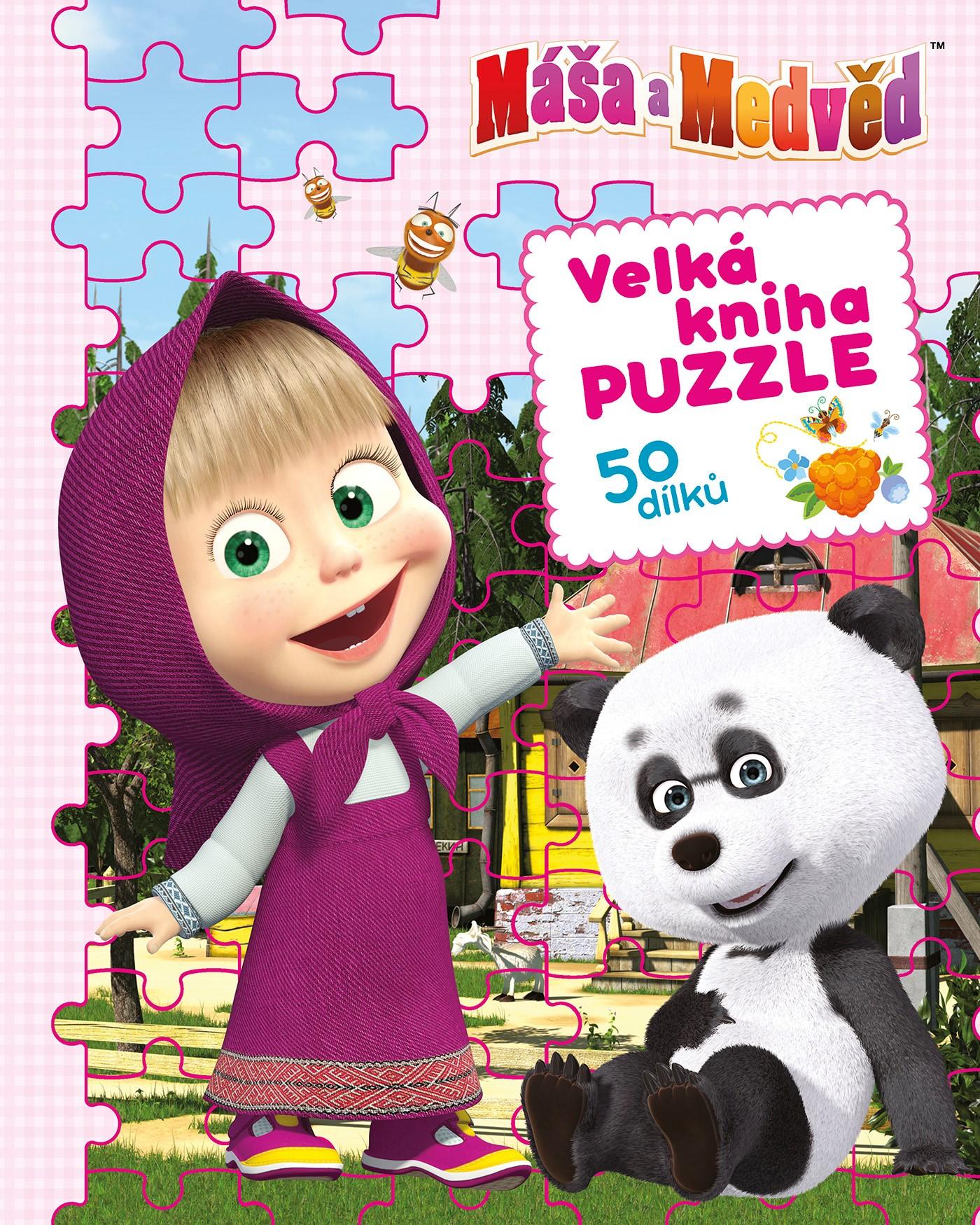Máša a medvěd - Velká kniha puzzle | kolektiv