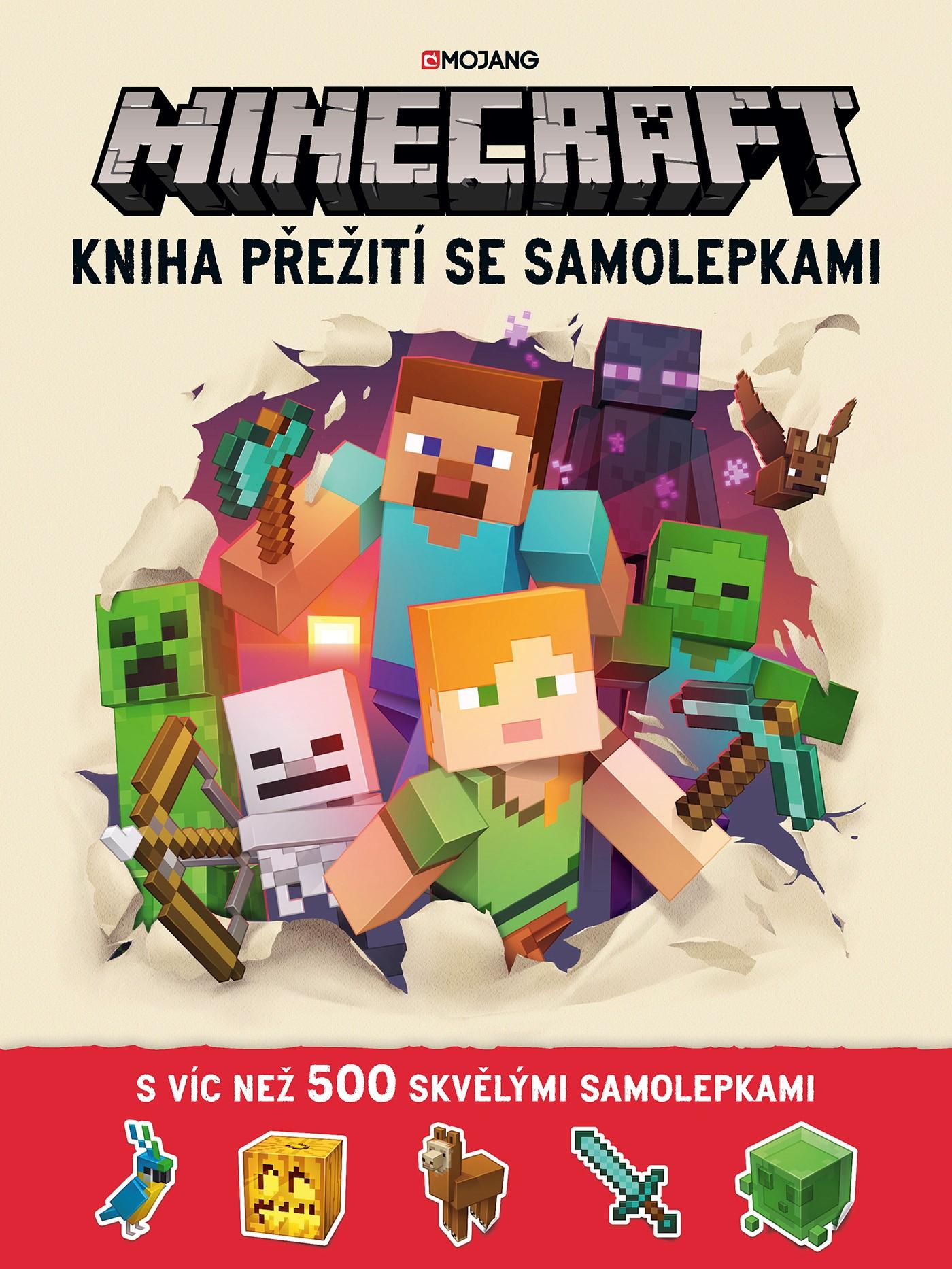 Minecraft - Kniha přežití se samolepkami