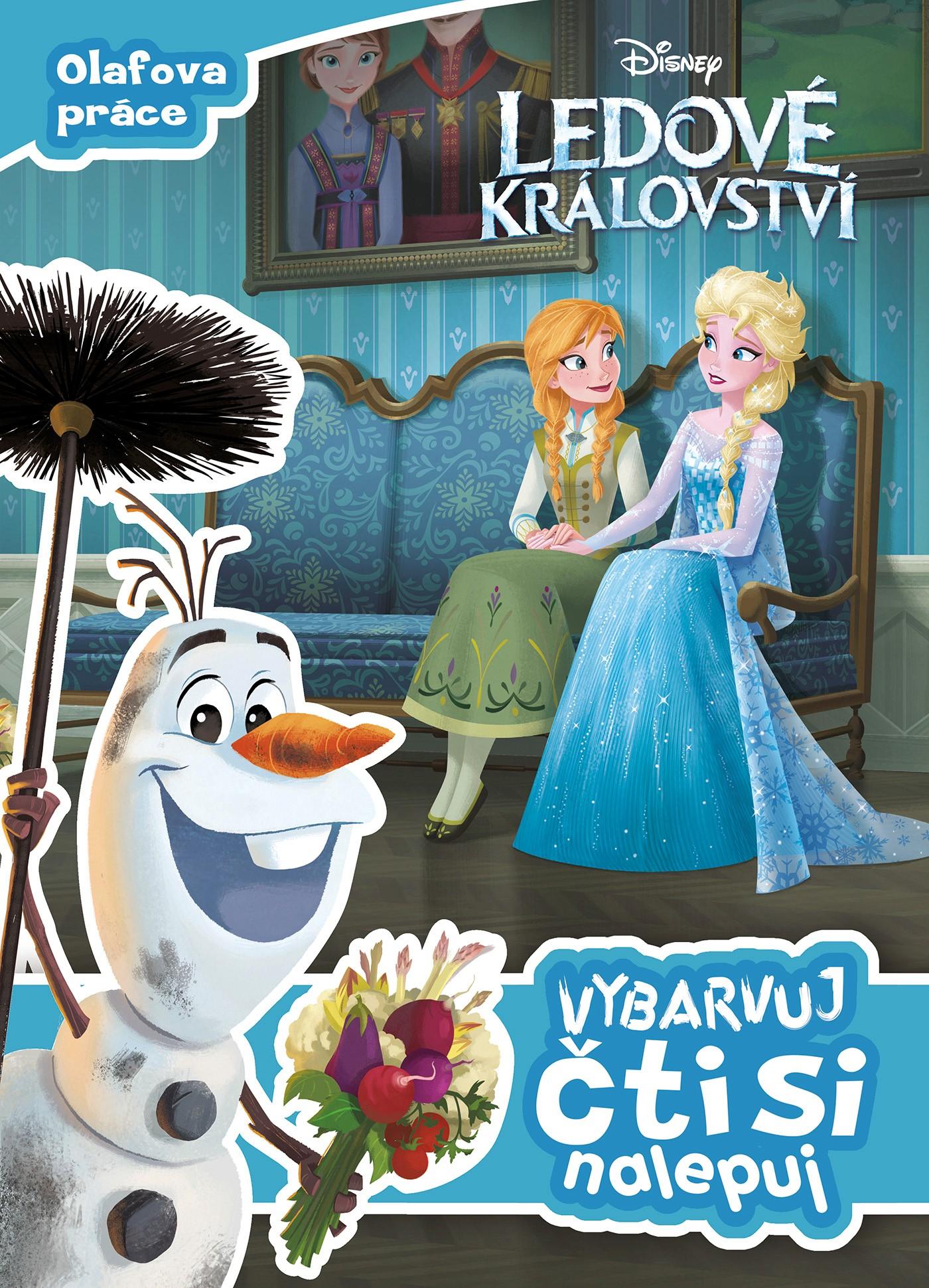 Ledové království - Olafova práce - Vybarvuj, čti si, nalepuj