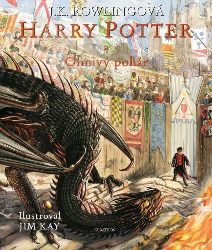 Výsledek obrázku pro harry potter a ohnivý pohár ilustrované vydání
